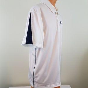 Nike Shirts - NIKE Men's White and Navy Blue Polo Shirt Large